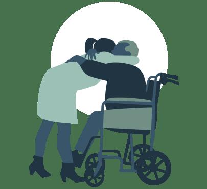 omhelzing oude man