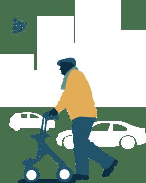 Oudere op straat