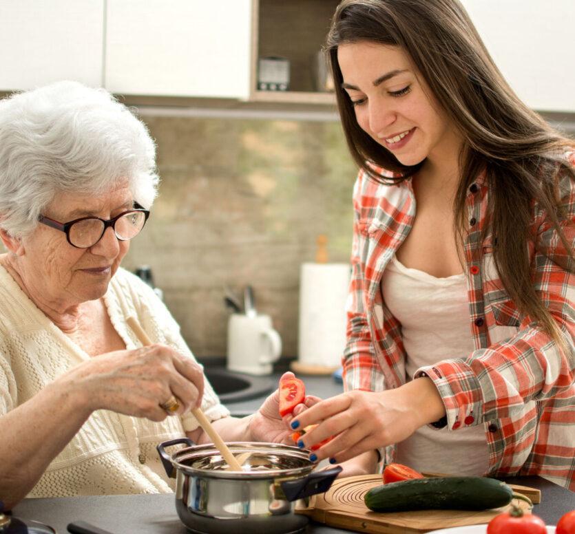 zorgen voor senioren